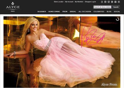 fashion industry website design Alyce Paris