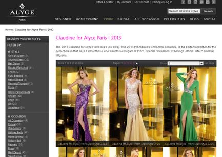 Joomla website design Alyce Paris