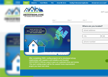 3 Roof Bid web design