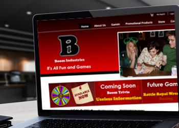 Boom Industries website design