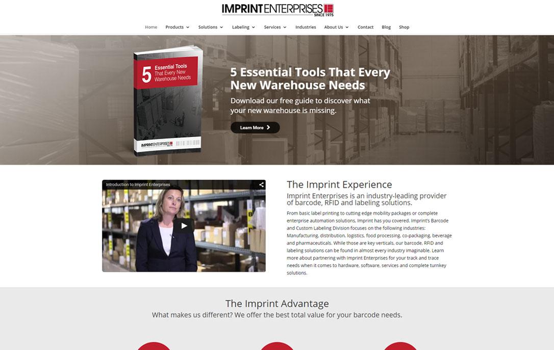 eCommerce site Imprint Enterprises