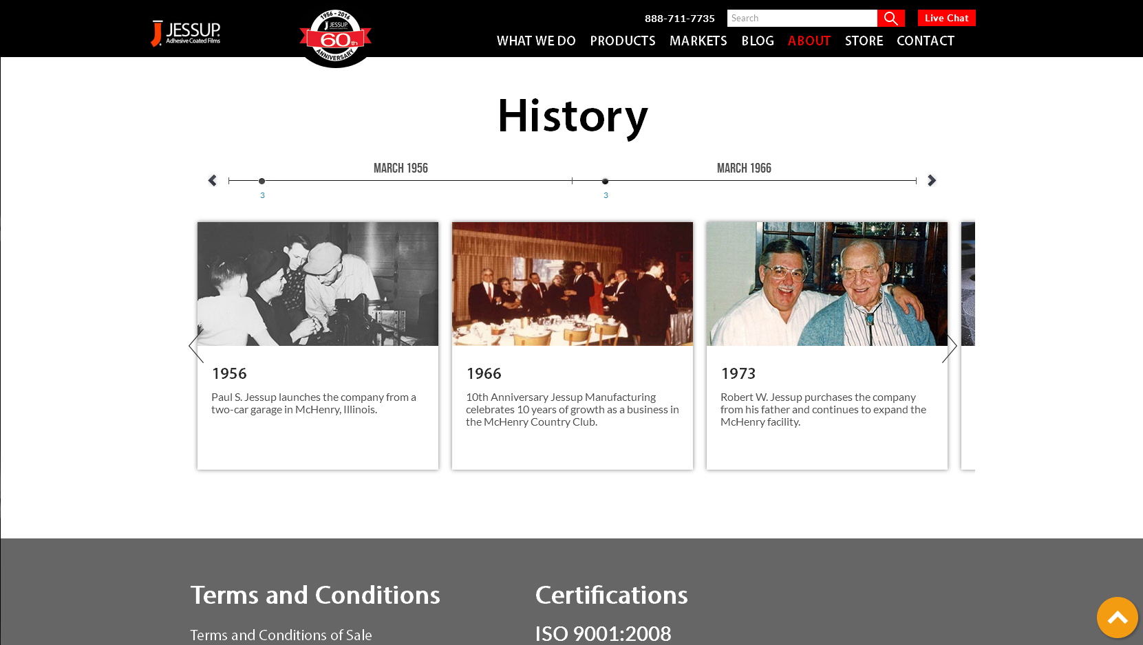 Jessup Manufacturing website example