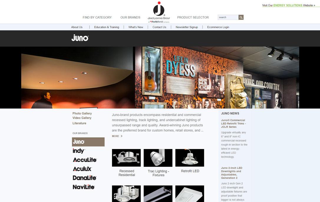 web presence Juno Lighting Group