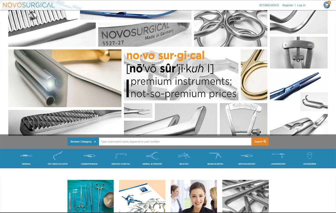Novo Surgical ecommerce website