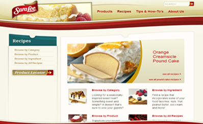 website Sara Lee