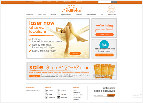 e-commerce Shobha Salons