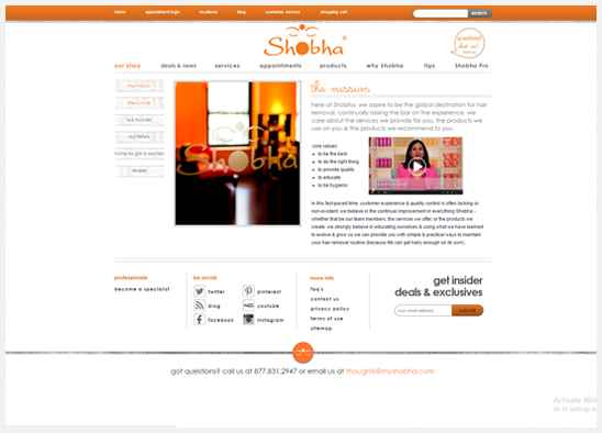 appointment scheduling application Shoba Salons
