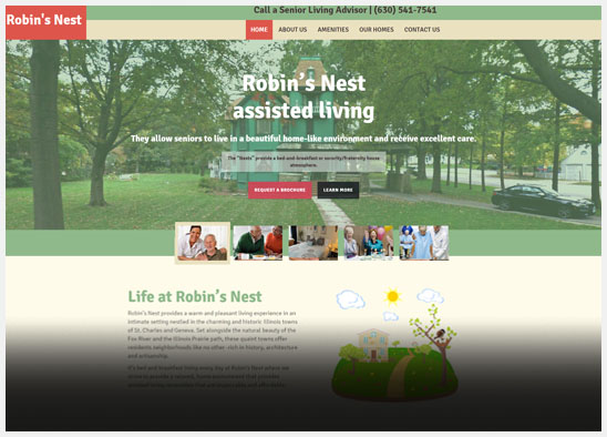 website design for assisted living facility