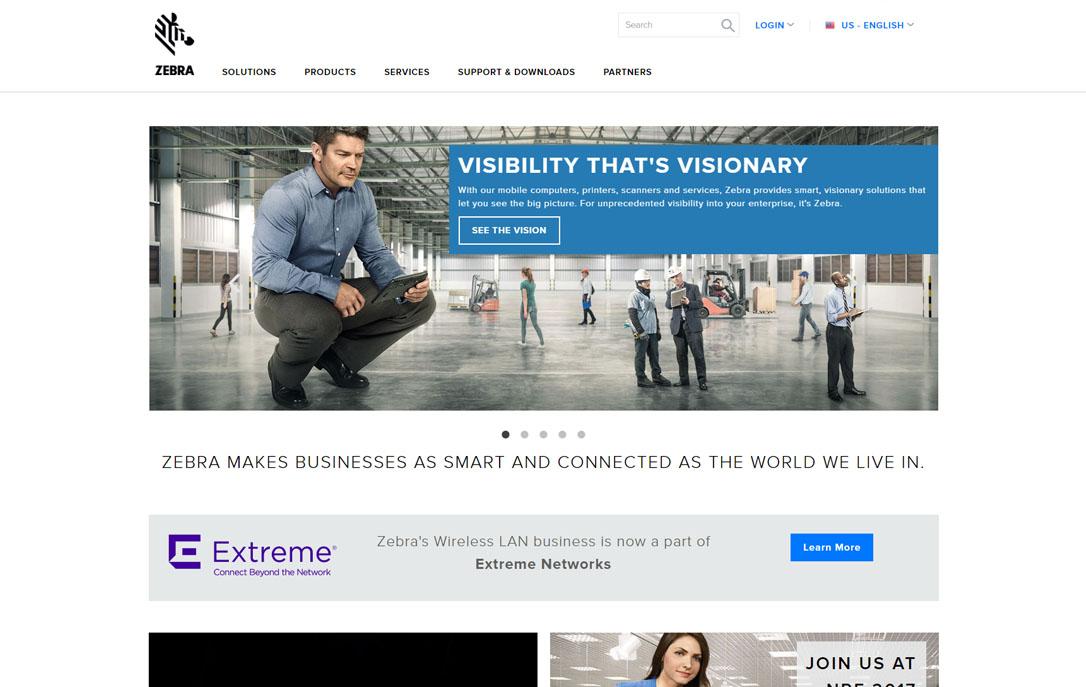 website translation Zebra Technologies