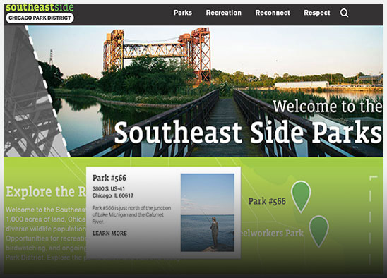 Southside Parks website design
