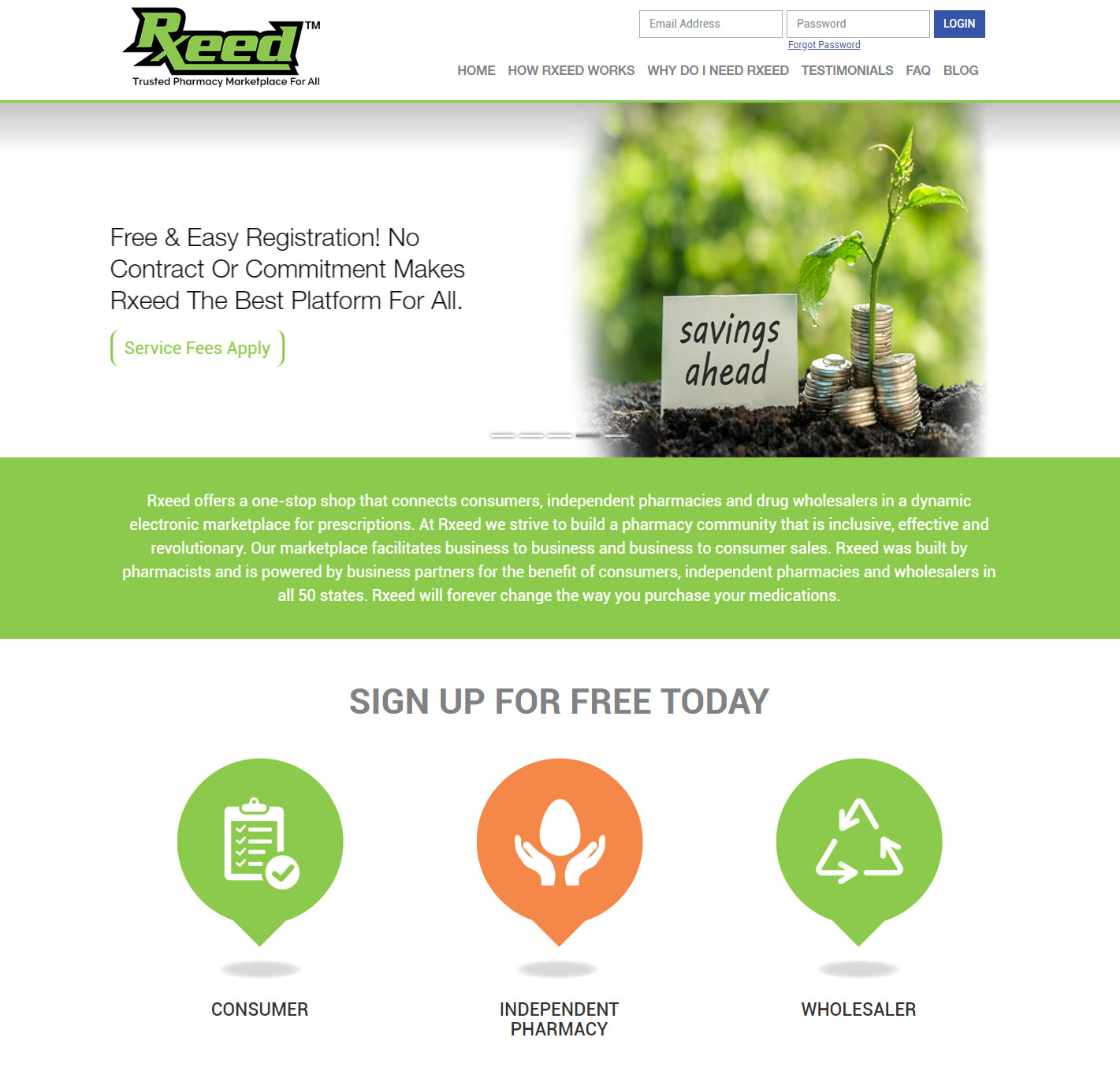 Laravel PHP Web Application Develpment for Rxeed | Plego Technologies