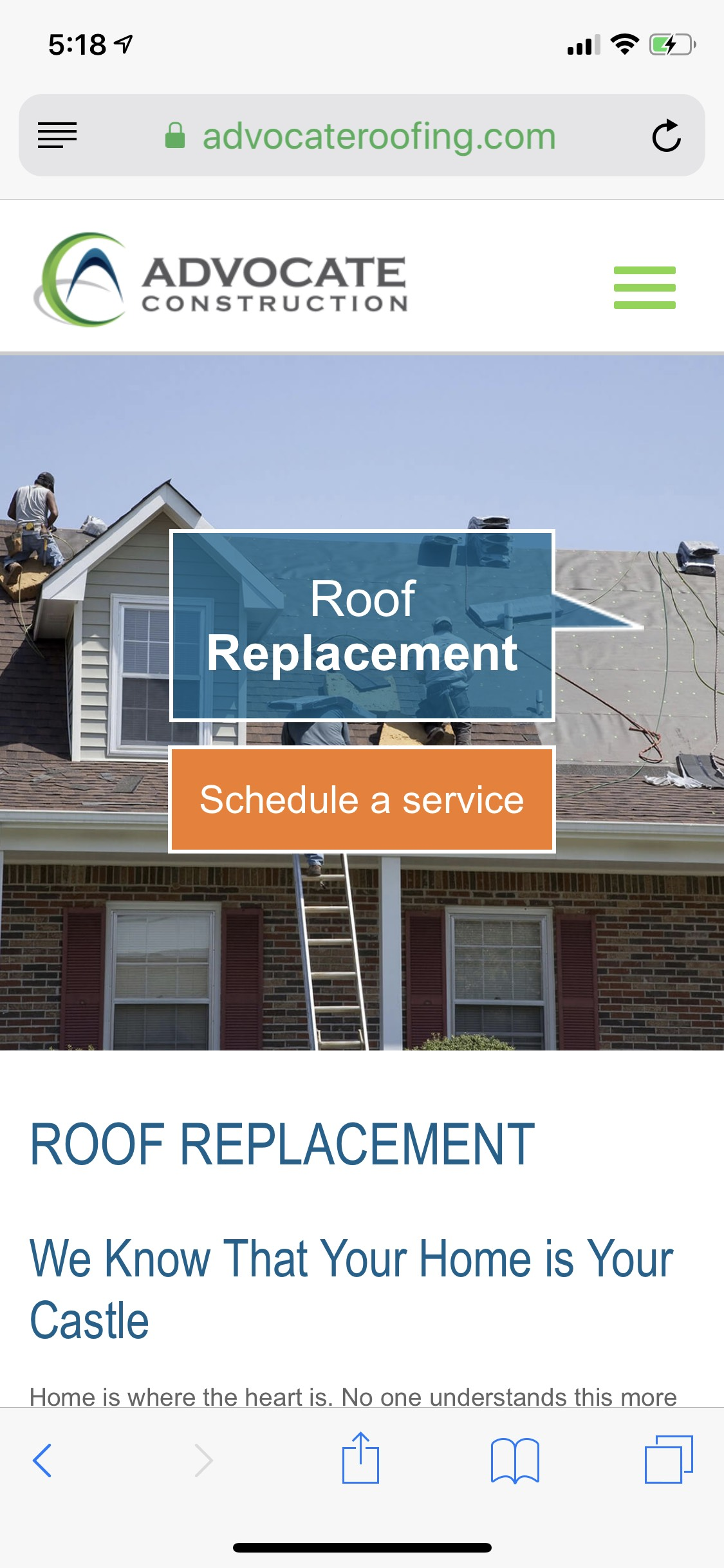 Advocate Mobile Roof Replacement Design