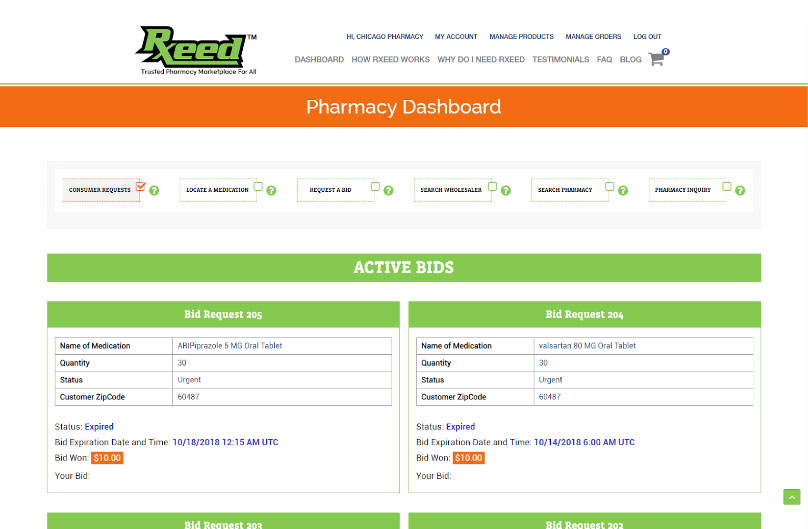 Online Pharmacy Marketplace